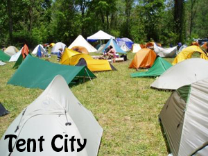 Applachian Trail Tent City